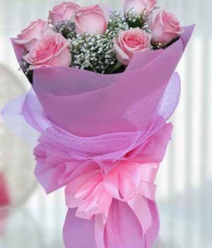 Blushing Pink Violet Bouquet